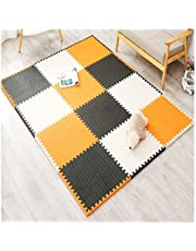 Interlocking Foam Floor Mats Colorful Soft Bouncy Cold Protection/Anti-Fall/Waterproof Protection Baby Crawling Mat Multiple Uses 6 Specifications AWSAD