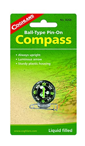 Price comparison product image Coghlan's Ball-Type Pin-On Compass