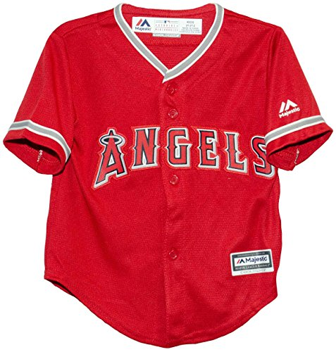 Los Angeles Angels Alternate Red Cool Base Child Jersey (Large (7))