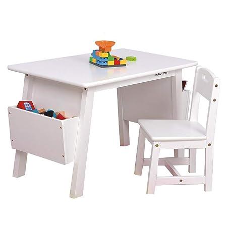 Muebles Mesa y Silla Conjunto de los niños de Madera Maciza Mesa ...