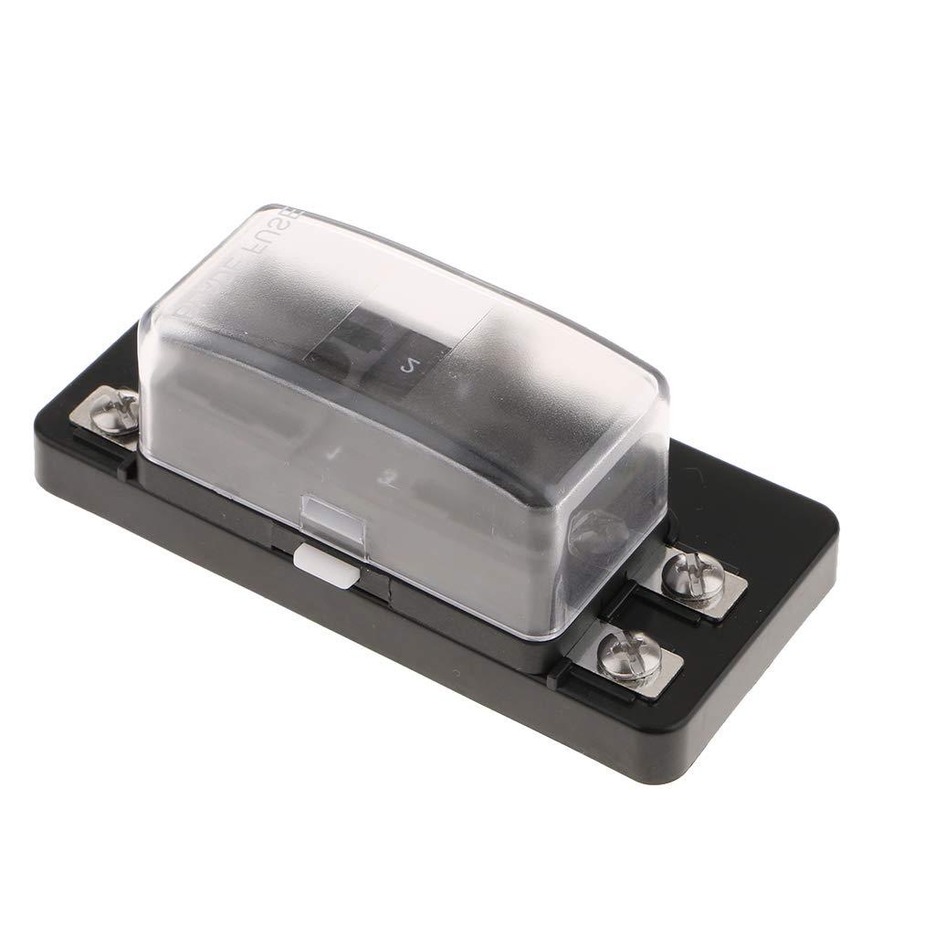 B Blesiya 4-Fach Sicherungstr/äger Sicherungshalter DC32VAuto Sicherungskasten Flachsicherungen Sicherungsdose