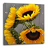 3dRose dpp_37530_1 Autumn Dancing Sunflowers Flowers Floral Photography Wall Clock, 10 by 10-Inch