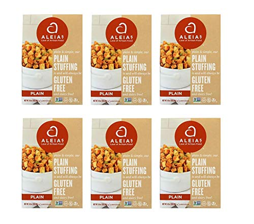 Aleia's Gluten Free Foods Stufing Mix, Plain, Gf, 10-Ounce (Pack of 3)'' (Pack of 6) by Aleia's Gluten Free Foods