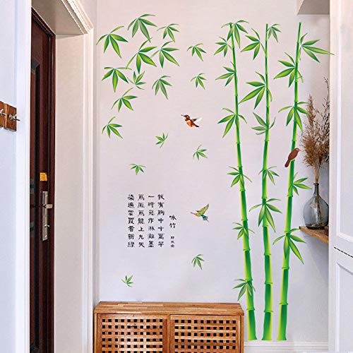 Wall Sticker SoungNerly Personality Creative Living Room Bedroom Bamboo TV Background Wall Bamboo Painting Can Be Removed -