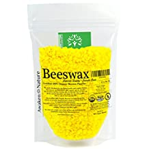 Awaken Nature's USDA CERTIFIED Organic Beeswax Pellets - Simply Superior Quality 100% Organic Bees Wax Containing No Toxic Pesticides or Chemicals - Pure, Triple-Filtered, Easy to Melt Micro Pastilles - Saving Bees & Your Wellbeing is our Priority