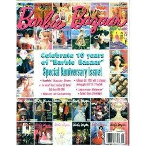 Barbie Bazaar Magazine August 1998 Celebrate 10 Years of Barbie Bazaar Special Anniversary Issue - Barbie Magazine