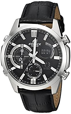 Casio Men's 'Edifice' Quartz Stainless Steel Casual Watch, Color:Black (Model: ERA500L-1A)