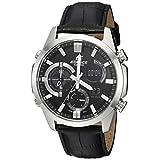 Casio Men's 'Edifice' Quartz Stainless Steel Casual Watch, Color:Black (Model: ERA500L-1A)