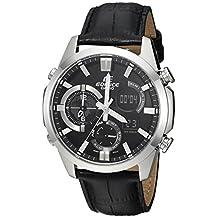 Casio Men's 'Edifice' Quartz Stainless Steel Casual Watch, Color:Black
