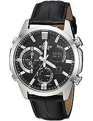 Casio Mens Edifice Quartz Stainless Steel Casual Watch, Color:Black (Model: ERA500L-1A)