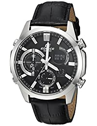 Casio Men's 'Edifice' Quartz Stainless Steel Casual Watch, Color:Black