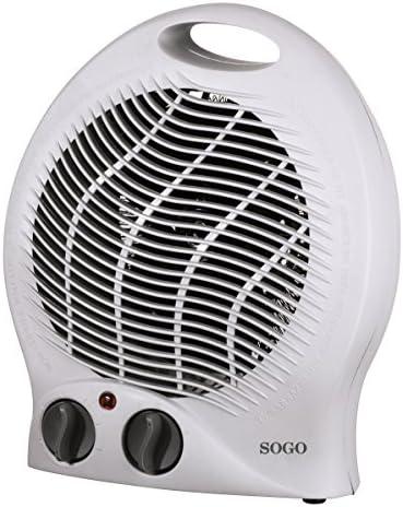SOGO CAL-SS-18305 Termoventilador turbo redondo, 2000 W, Plástico ...