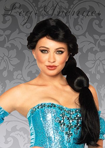 [Womens Princess Jasmine Style Black Arabian Wig by Leg Avenue] (Princess Jasmine Wig)