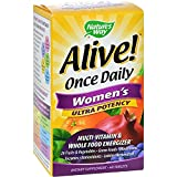 2Pack! Nature's Way Alive Once Daily Women's Multi-Vitamin Ultra Potency - 60 Tablets