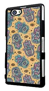 508 - Shabby Chic Multi Hamsa Hands Design For Sony Xperia Z2 Compact Fashion Trend CASE Back COVER Plastic&Thin Metal