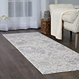 Home Dynamix Christian Siriano Brooksville Hemingway Runner Area Rug 2'2'' x6'9, Neutral Damask Ivory/Gray