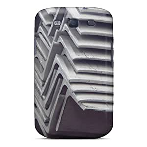 Defender Case For Galaxy S3, Stainless Steel Angle Pattern