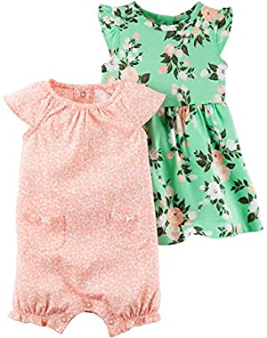 Baby Girls' 3-Piece Set Dress and Bottoms