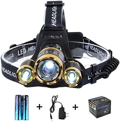 6000 LM Q5 LED Ultra Bright Zoomable Flashlight Headlamp Headlight AAA TR