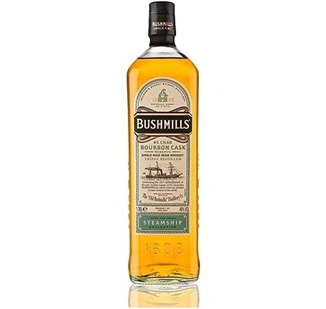 Bushmills Whisky Steamship Bourbon 40º + Estuche - 1000 ml: Amazon.es: Alimentación y bebidas