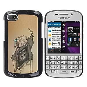 For BlackBerry Q10 Case , Sexy Woman Fashion Art Design - Diseño Patrón Teléfono Caso Cubierta Case Bumper Duro Protección Case Cover Funda