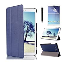 "Samsung Galaxy Tab E 8-Inch Tablet Case,Samsung T377R Case,T377W Cover,Folding case Slim PU leather Wallet Cover for 8.0""Samsung Galaxy Tab E 8 Tablet+ Screen Protector + Stylus"