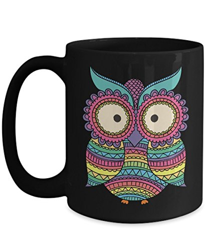 Shirt White Owl Summer Cute Love Owl Custome Coffee Mug 15oz Black ()