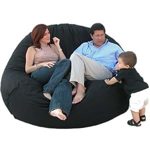 Cozy Sack 7-Feet Bean Bag Chair, X-Large, Black