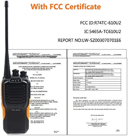 HYT TC-610 IP66 Waterproof Dustproof TC610 VHF136-174MHz Two-Way Radio Programming Cable