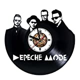 DEPECHE MODE - Handmade Vinyl Wall CLock - Get unique gifts presents for birthday, Christmas, anniversary - Gift ideas for boys, girls, men, women, adults, him and her - Sport Unique Design