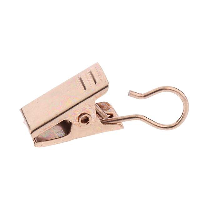 Sharplace 10pcs Anneau Pat/ère avec Pince Clip de Rideau de Voilage D/écoration Maison 32mm Argent