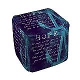 Thumbprintz Let Hope Anchor You Pouf Medium 18 x 18