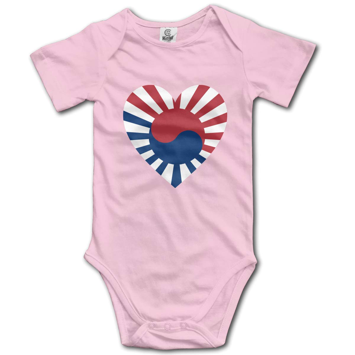 Baby Short-Sleeve Onesies Love Ying Yang Flag Bodysuit Baby Outfits