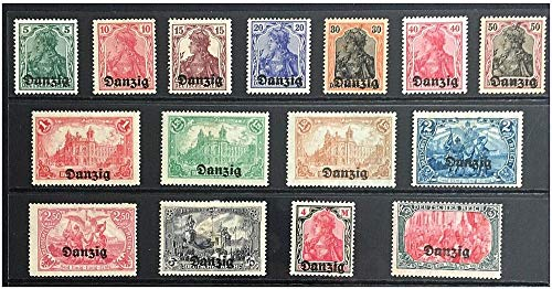 PL 1920 PHENOMENAL COMPLETE 1920 ISSUE of FIRST 15 STAMPS ISS BY NEWLY FREE CITY OF DANZIG! (NOW GDANSK POLAND) MINT NEVER USED UNCANCELLED (Was Germany Occupied By Germany In Ww2)