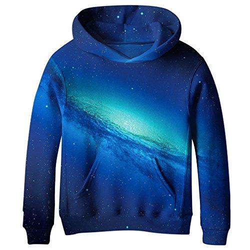SAYM BoysTeen Youth Galaxy Fleece Sweatshirts Pockets Cotton Hoodies 4-16Y