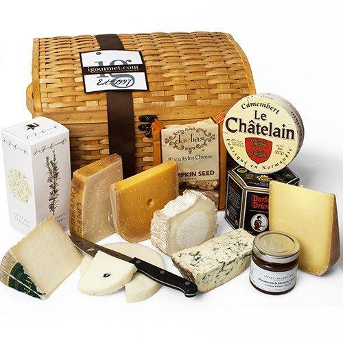 Luxurious Cheese Treasures Gift Basket (8.5 pound)