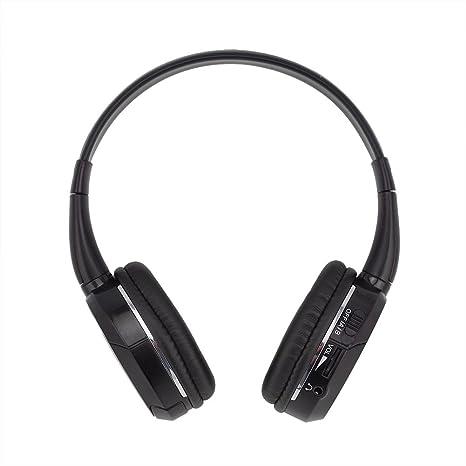 ddauto Universal de 2 canales infrarrojos por infrarrojos inalámbrico para coche auriculares apoyo IR transmisor o