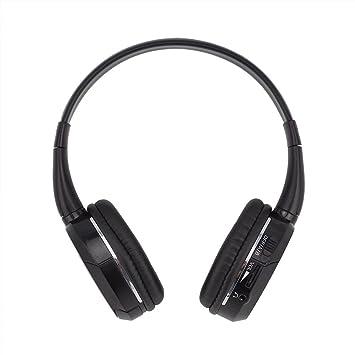 POWERGEN - Auriculares inalámbricos para Coche con 2 Canales de Infrarrojos, para transmisor IR o conexión de Cable, Color Negro: Amazon.es: Electrónica