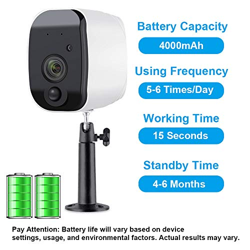 Fuvision Battery Powered Outdoor Security Camera,Wire-Free Waterproof Surveillance IP Camera with Motion Detection,Two-Way Audio,Wide Angle Camera,Faster Alert and Strong Night Vision