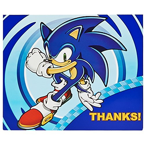 BirthdayExpress Sonic The Hedgehog Party Supplies - Thank-You Notes (8) -