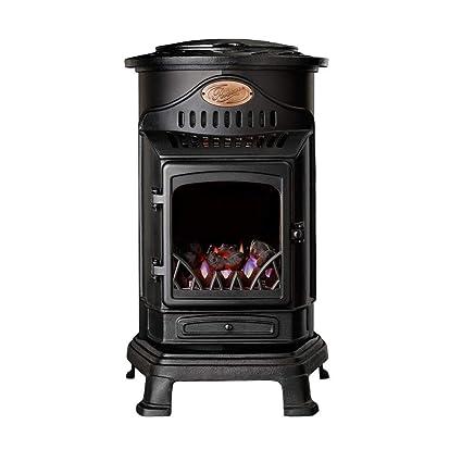 Fireside Estufa portatil de Gas butano de Color Negro con Panel Radiante Modelo Provence: Amazon.es: Hogar