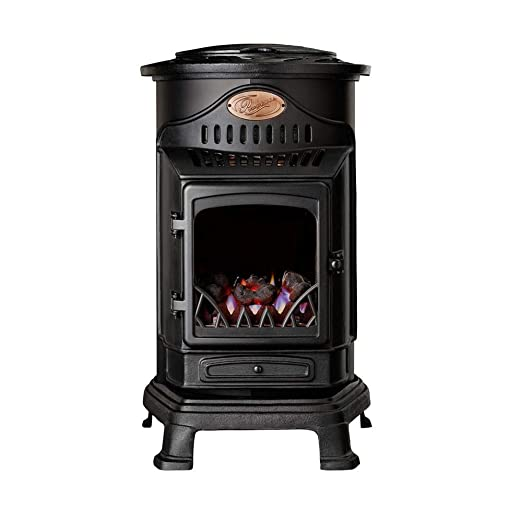 Fireside Estufa portatil de Gas butano de Color Negro con Panel Radiante Modelo Provence: Amazon.es: Hogar