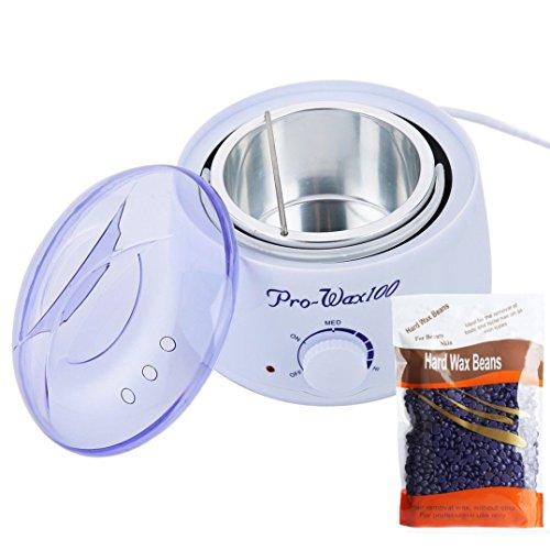 Wax Beans Epilator Set Temperature Adjustable Wax Heater Hair Removal Cream Pearl Warmer Professional Epilation