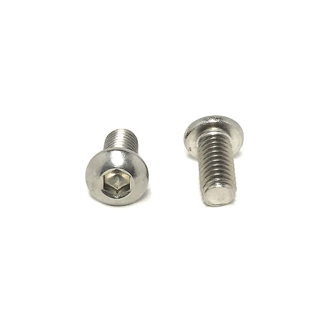 Stainless Steel M5 X 50 Button Socket Head Screw A2 10 Pack