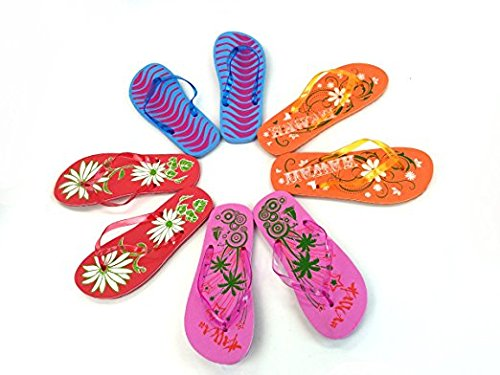 Beauticom Spa Pedicure Flip Flops Sandals Salon Slippers (Various Designs) (Quantity: 100 Pairs) by Beauticom