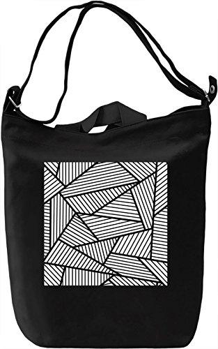 Abstract Print Borsa Giornaliera Canvas Canvas Day Bag  100% Premium Cotton Canvas  DTG Printing 