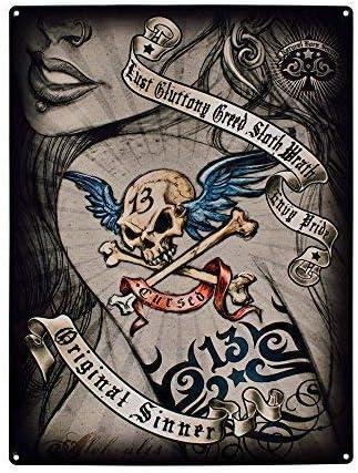pecador. Dibujo of chica sexy woman con tatuaje of 13 cráneo y ...