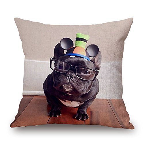 [Alphadecor The Dog Cushion Covers Of ,16 X 16 Inches / 40 By 40 Cm Decoration,gift For Dining Room,adults,relatives,indoor,car,office (2] (Crosby Halloween Costume)