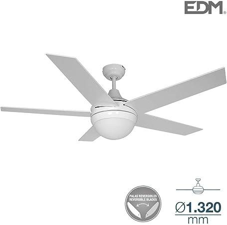 Ventilador de techo ADRIATICO 60W 130cm blanco/cromo 2xE14 40W EDM ...