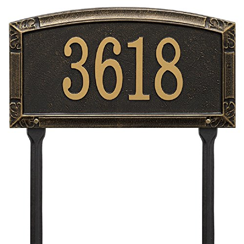 Whitehall Worthington Standard LAWN Address Plaque 14 inches by 9.25 inches (1 Line)